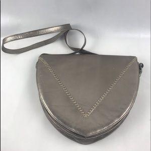 Charles Jourdan Leather Crossbody Bag Metallic